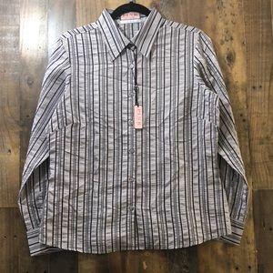 Thomas Pink Striped Button Down Dress Shirt